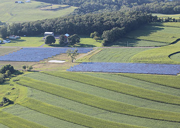 Arial view of Big B's Solar Field